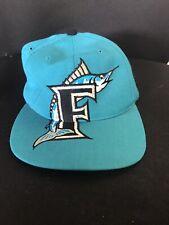 New listing vtg 90s Florida marlins 3D snapback hat. american needle. hip hop. Mlb.