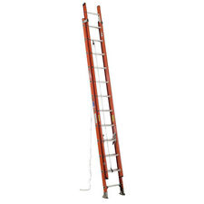 Werner D6224-2 24 Ft Fiberglass Extension Ladder, 300 Lb Load Capacity