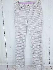 GARNET HILL KIDS Grey Heart Print Skinny 5 Pocket Jeans Pants Leggings