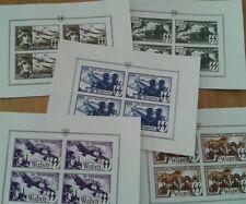 5er Set casella posta francobollo Deutsches Reich armi SS