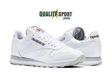 Reebok Clásico Leather Blanco Zapatos Hombre Deportivos Zapatillas 2214