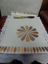 Michael Wainwright Tempio Luna Tri Color Gold Cheese Tray Platter w/ Sunflower