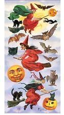 Violette Sticker Panel - Victorian Halloween Witches, Moon, Pumpkin,Cat, Bat,Owl