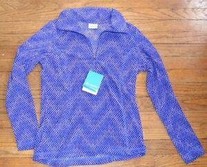 Columbia Wintery Run Printed Half Zip Fleece Top Size Small MSRP $50.00