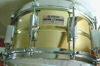 SD-416 Japan Yamaha brass seamless snare: Yamaha die casts, spotless brass
