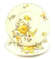 Castleton China Mayfair DINNER PLATES set of 2 by Philip Costigan Yellow Roses