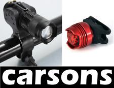 Front & rear bike lights - mini silicone aluminium alloy torch led light CARSONS