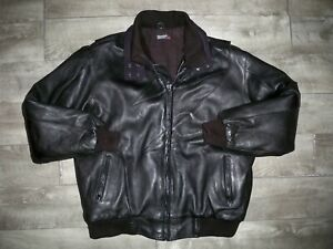 Vintage Polaris? Snowmobile Insulated Leather Bomber Racing Men's Jacket Coat XL