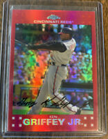 2007 Topps Chrome Ken Griffey Jr. Red Refractor #8/99   SSP Cincinnati Reds