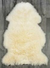Genuine Real Sheepskin Rug Champagne Sheepskin Rug Single Pelt Wool Fur Throw.