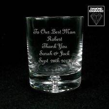 Personnalisé 12oz whisky//spirit verre père de la mariée//marié cadeau