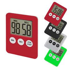 LCD Digital Kitchen Timer Countdown Cooking Multi Purpose Slim Magnetic Alarm