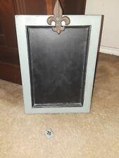 "Decorative Fleur De Lis  Chalkboard Rectangular   14"" X 10"" Frame"