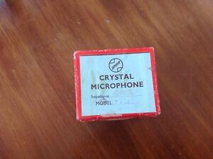 Vintage Zephyr Crystal microphone in original box