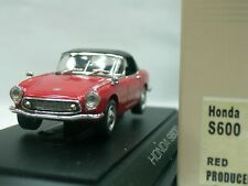 WOW EXTREMELY RARE Honda  S600 RHD Soft Top 1964 Red 1:43 Ebbro-DISM