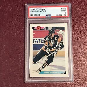 1992 Bowman #189 Mario Lemieux PSA 9 MINT