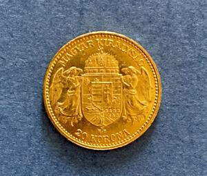"""Haus Habsburg 20 Kronen 1893 Franz Joseph + 1 Silver dollar """"Morgan"""" 1889"""