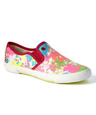 NIB UGG Punch Paint Splatter I Heart Love Slip-On Sneaker Shoes Women Sz. 7