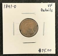 1841-O U.S. SEATED LIBERTY DIME ~ VERY FINE DETAILS! $2.95 MAX SHIPPING! C1723