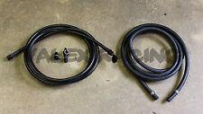 94-95 Acura Integra Black Stainless Steel Fuel Feed Line & Rubber Return