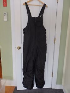 Men's M Athletic Works Black Nylon Insulated Bib Overalls Winter Activity Pants