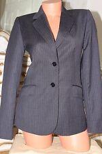 AUSTIN REED  super 100% wool dark grey ladies fitted jacket size 8