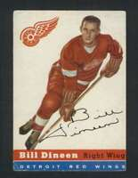 1954-55 Topps #57 Bill Dineen VGEX Red Wings 108212