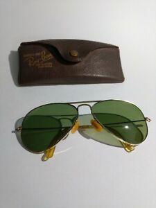 Vintage Ray Ban Bausch & Lomb 1/10 12K GF Aviator Shooter B&L 1940's? w/ Case!!!