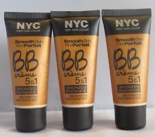 3 X NYC Smooth Skin BB Crème 5 In 1 Bronzed Radiance Skin Perfector 004 Light