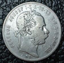 1872 HUNGARY/MAGYAR - 1 FLORINT - .900 SILVER - Franz Joseph I - Nice