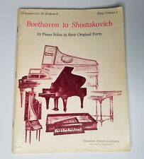 Beethoven To Shostakovich Composers Easy Volume 2 Keyboard 53 Piano Solo 1969 LQ