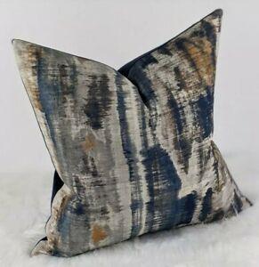 Aquaria Handmade Cushion Cover Indian Blue Boho / Aztec / Abstract Style