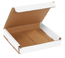 50 Pack 6x6x1 White Corrugated Shipping Mailer Packing Box Boxes 6 X 6 X 1