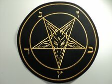 BAPHOMET GOLD    EMBROIDERED BACK PATCH