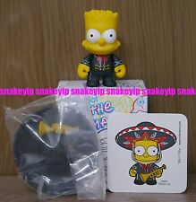 Kidrobot The Simpsons series 2 Mariachi Bart Simpson Complete w/Sticker and Box