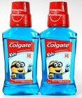 2 Bottles Colgate 8 Oz Kids Despicable ME Bello Bubble Fruit Fluoride Rinse