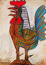 Pablo Picasso cock museum quality giclee 8.3X11.7 canvas print reproduction