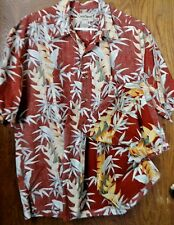 HAWAIIAN SHIRT COOKE STREET HONOLULU XL 100% COTTON SS CASUAL REVERSE MATERIAL