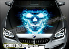 303 Car bonnet hood wrap printed graphic AIR RELEASE vinyl sticker SKULL