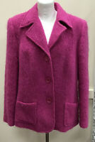 Womens Rio Size 18 Cerise Mohair Alpaka Blend Formal Jacket Ladies