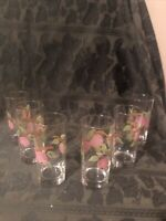 "Vintage Franciscan  Apple 6 1/4"" Iced Tea Glass Signed (6) Available"
