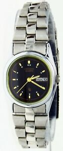 New Old Stock Ladies Citizen Watch Quartz Water-R Black Oval Dial, Day Date