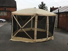 6 sided gazebo. instant 6 sided spring up screen house multiuse gazebo beige