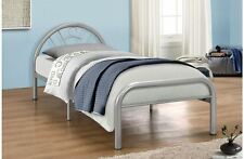 "Solo Silver Single Metal 3'0"" 3ft 90cm Bed Frame New"