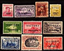 Philippines WWII 1945 VICTORY issue 10 different values used