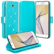 For Samsung Galaxy J7 Perx Note 8 Glitter Wallet Leather Stand Case