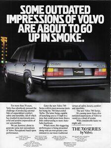 1986 Volvo 760 Intercooled Turbo Silver Vintage Original Print Ad