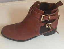 WOMEN LEATHER CHELSEA ANKLE BOOTS RIVERISLAND SIZE UK 6