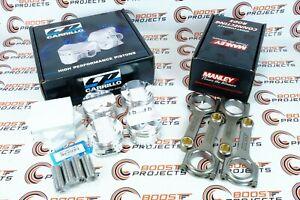"CP 3.425"" 87 mm 10.0:1 CR Pistons & MANLEY H-Beam Rods For Honda Prelude H22"