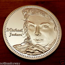 Michael Jackson Silver Coin Dancer Pop Star Legend Medal Moon Walking Scream Cry